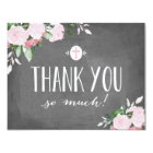 Floral Blooms Chalkboard Religious Thank You Card