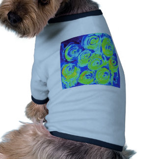 Floral blue and green rose pet clothes