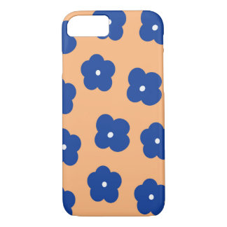 Floral Blue and Peach iPhone 7 Case