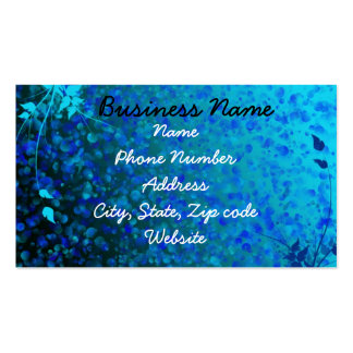 floral blue back Double-Sided standard business cards (Pack of 100)