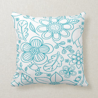 Floral Blue Cushion