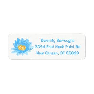 Floral Blue Lotus Flower - Turquoise Wedding