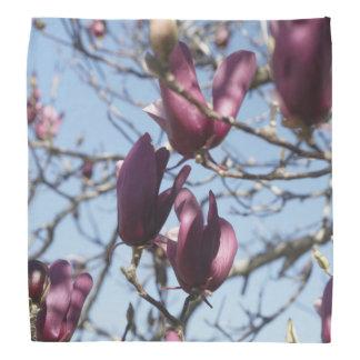 Floral Blue & Purple Bandana