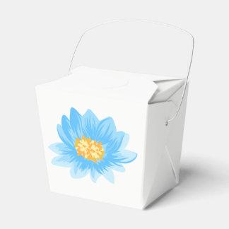 Floral Blue Turquoise Flower Watercolor Favour Box