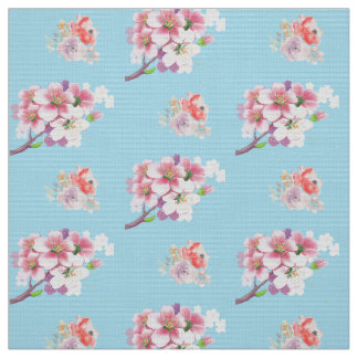 Floral boho trendy fabric