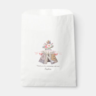 Floral Boho Tribal Teepee Wild One 1st Birthday Favour Bags