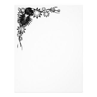 Floral border 21.5 cm x 28 cm flyer