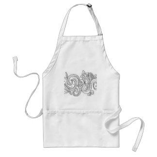 Floral border design standard apron