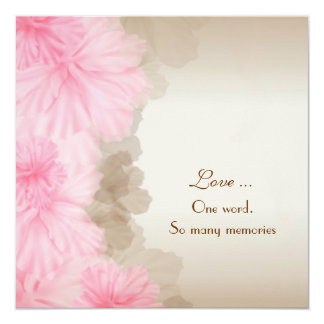 Floral Border Vow Renewal Card
