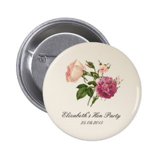 Floral Botanical Bachelorette Party Badges