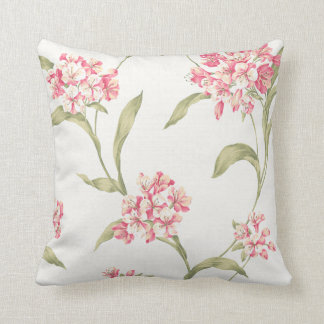 floral botanical hydrangea pattern cushion