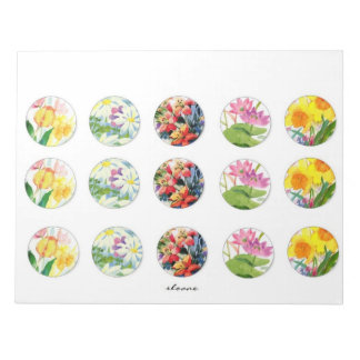 floral bottle cap images scratch pads