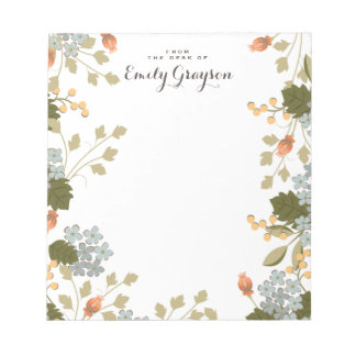 Floral Bounty Personalized Social Stationery Notepads