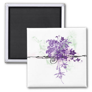 Floral Bouquet Abstract - Magnet