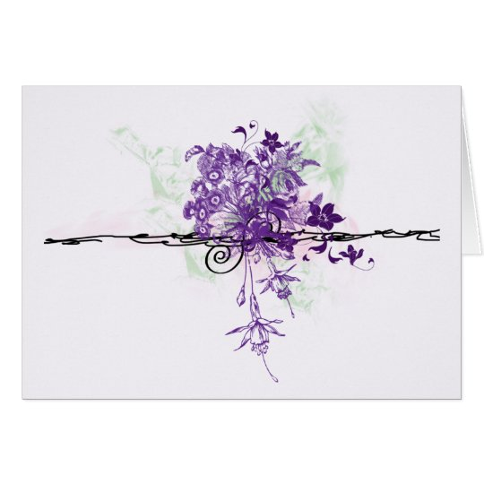 Floral Bouquet Abstract  - Note Card