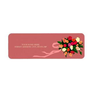 Floral Bouquet Address Mailing Labels