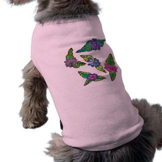 Floral Bouquet Dog Tee Shirt