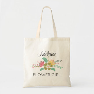 Floral Bouquet Flower Girl Tote