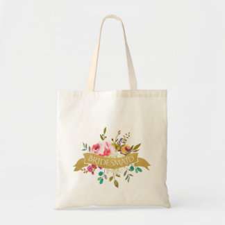 Floral Bouquet Flower Girl Tote Bag