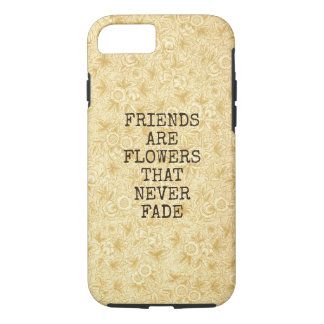 Floral Bouquet Girly Retro Beige Floral Blooms iPhone 8/7 Case
