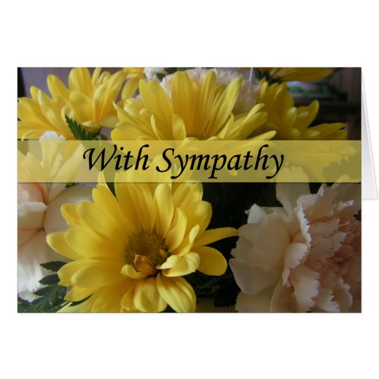 Floral Bouquet Large Font Sympathy Card