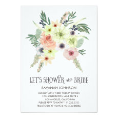 Floral Bouquet | Lets Shower the Bride | Bridal Invitation