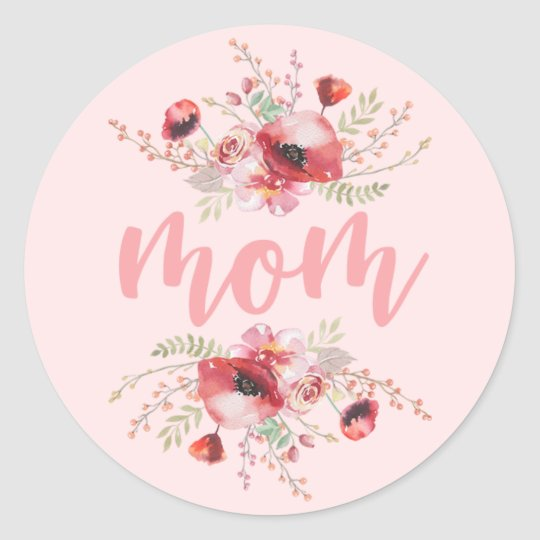 Floral Bouquet | Mother's Day Classic Round Sticker
