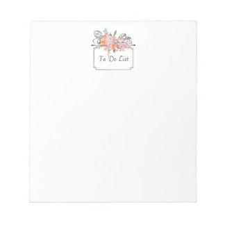 Floral Bouquet Notepad