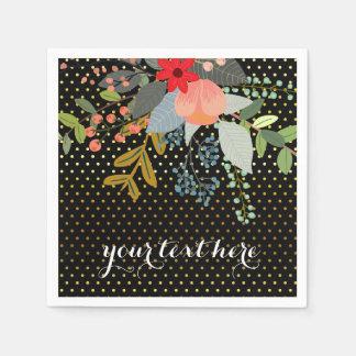 Floral bouquet party * choose background color paper napkins