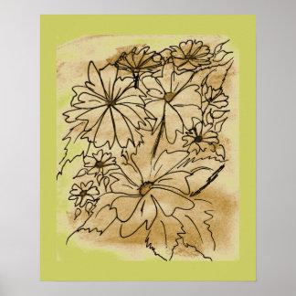 Floral Bouquet Poster Art