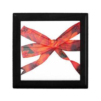 Floral bow small square gift box