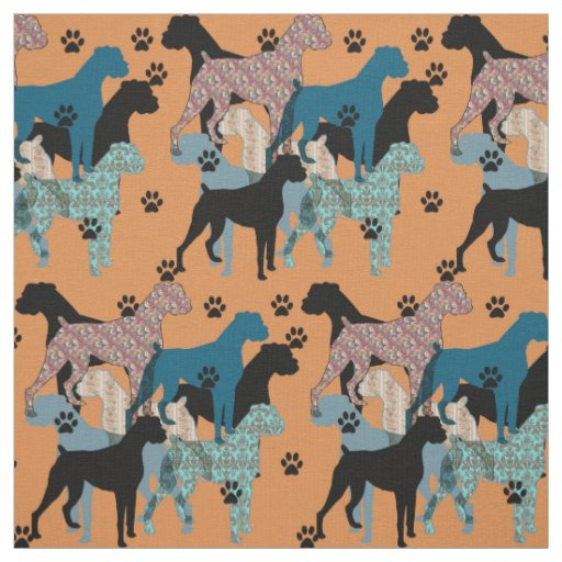 Floral Boxer print fabric