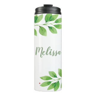 Floral Branches Thermal Tumbler
