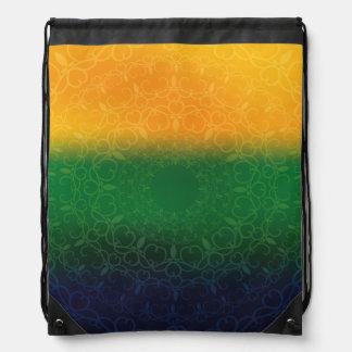 Floral Brazil Design Drawstring Backpack