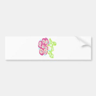 Floral Bridal Design Bumper Sticker