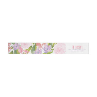 Floral Bridal Shower Address Return Label