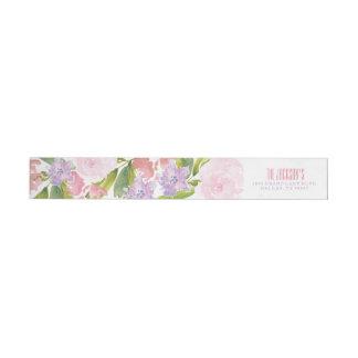 Floral Bridal Shower Address Return Label Wraparound Return Address Label