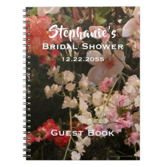 Floral Bridal Shower Guest Book, Many Flowers Notebook