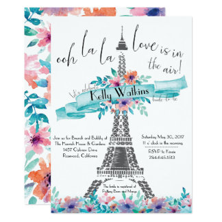 Floral Bridal Shower Invitation - Paris