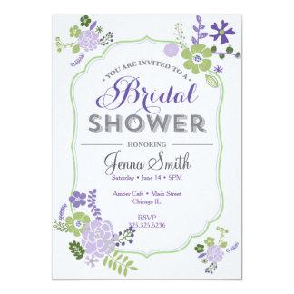 Floral Bridal Shower Invitation Purple lavender