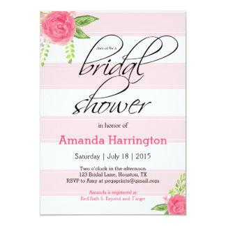 Floral Bridal Shower Invitation - Shabby Chic