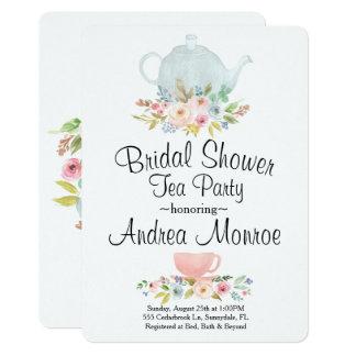 Floral Bridal Shower Tea Party Custom Invitation