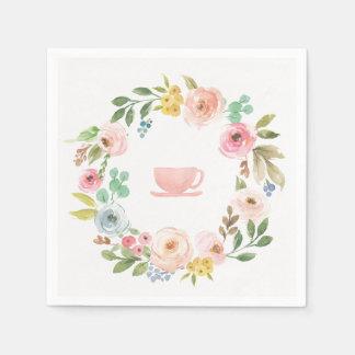 Floral Bridal Shower Tea Party Napkins Paper Serviettes