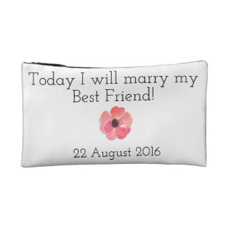 Floral Bride Clutch Cosmetic Bags