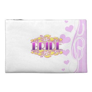 floral bride wedding shower bridal party fun travel accessories bag