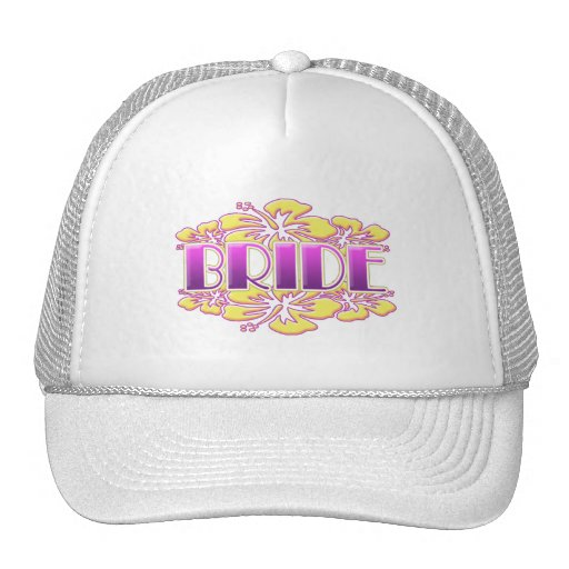 floral bride  wedding shower bridal party fun mesh hats