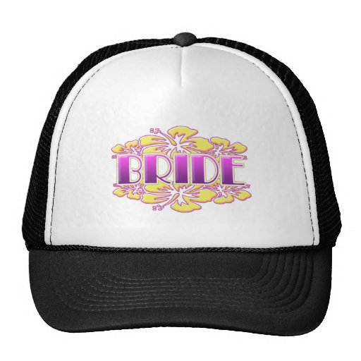 floral bride  wedding shower bridal party fun mesh hat