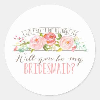 Floral   Bridesmaid Stickers