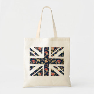 Floral British Flag Tote Bag