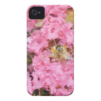 Floral Bumble Bee iPhone 4 Case-Mate Case